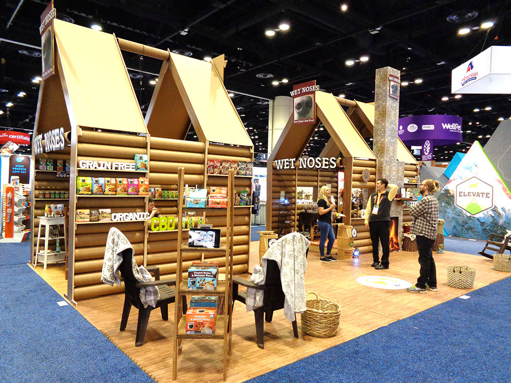 Custom Tradeshow Booth Design for Wet Noses Organic Pet Treats 2019