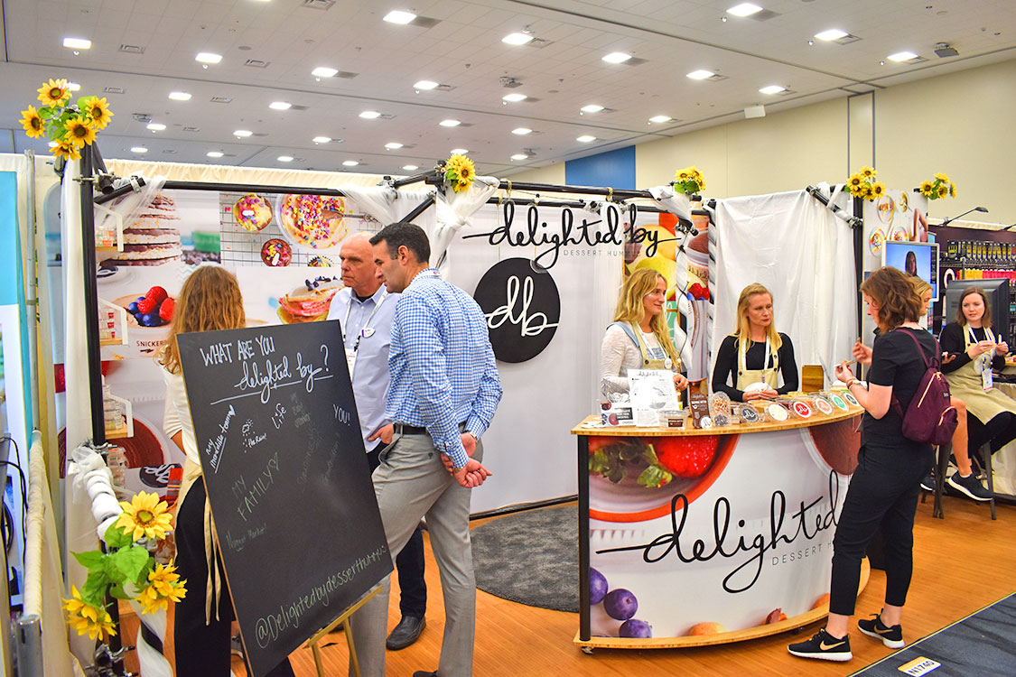 Tradeshow Booth Design for Delighted By Dessert Hummus