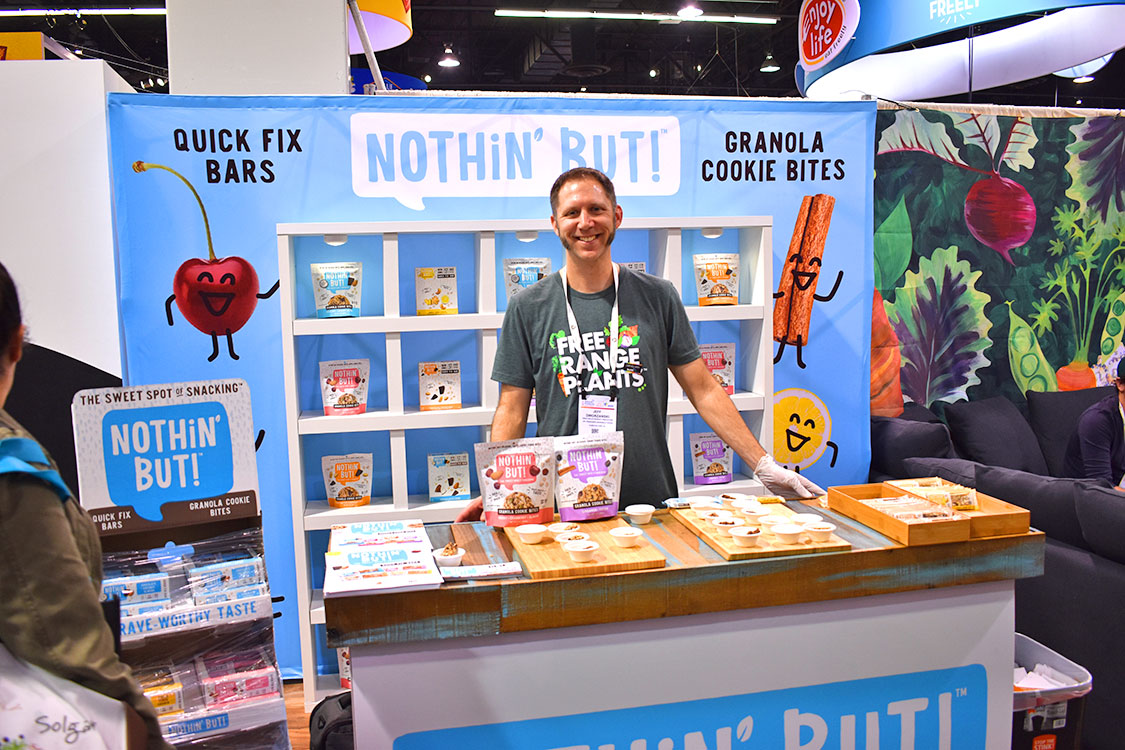 Tradeshow Booth Design for Nothin' But Healthy Snack Bars