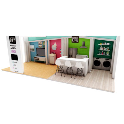 tradeshow booth design for healthy products industry