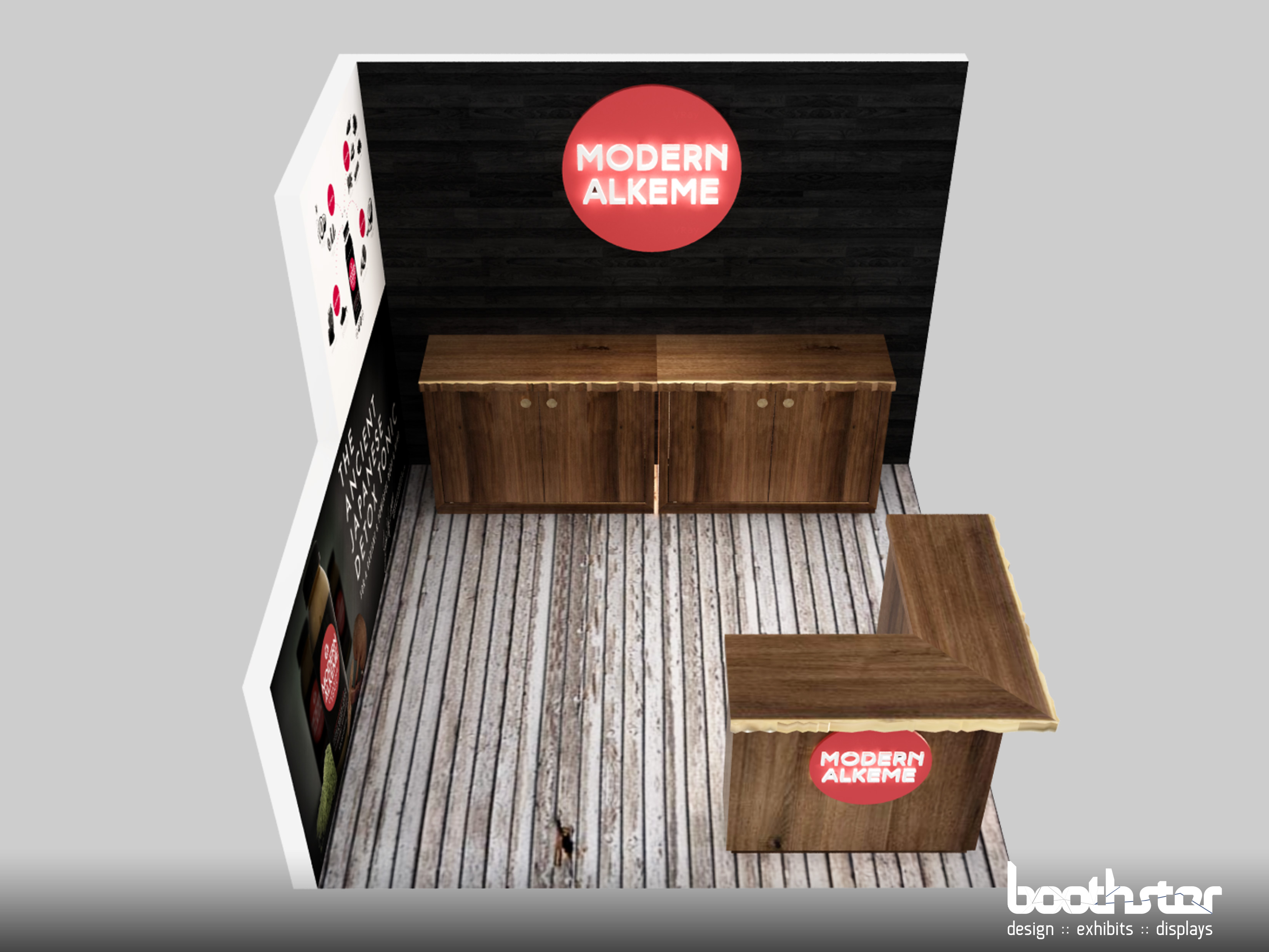 Tradeshow Booth Design for Modern Alkeme 2018