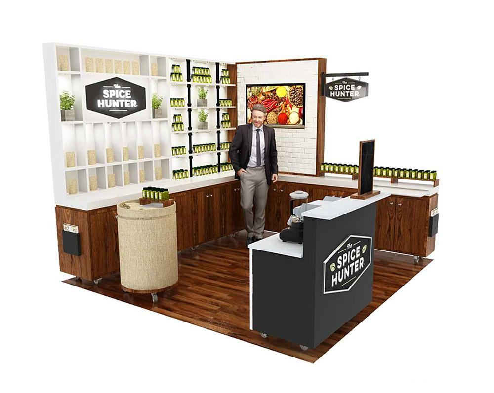 Custom Tradeshow Booth Design for The Spice Hunter