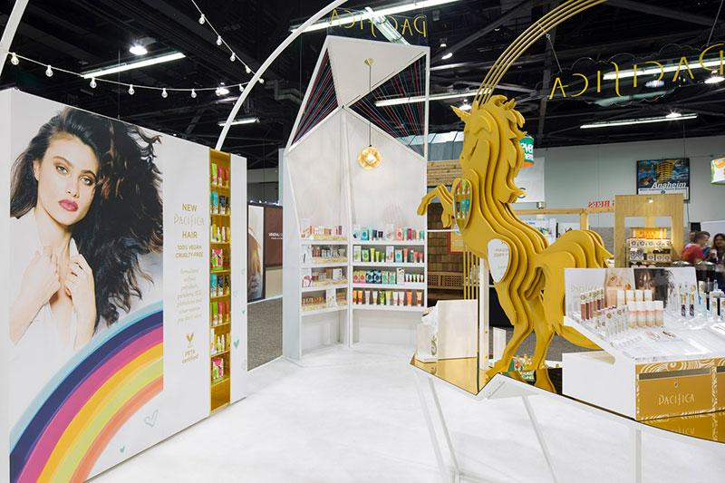 Custom Tradeshow Booth Design for Pacifica Beauty