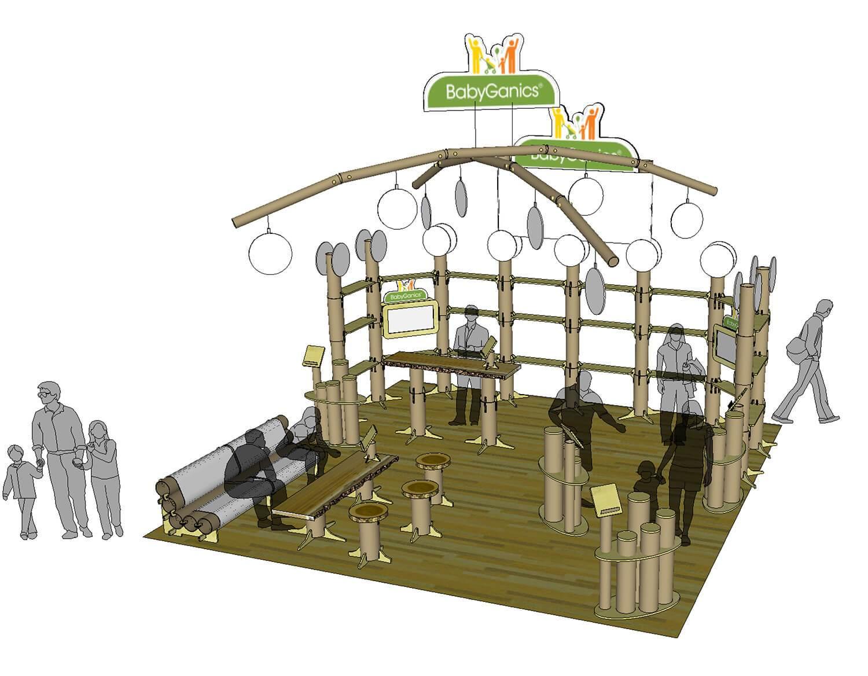 Tradeshow Booth Design for BabyGanics ABC
