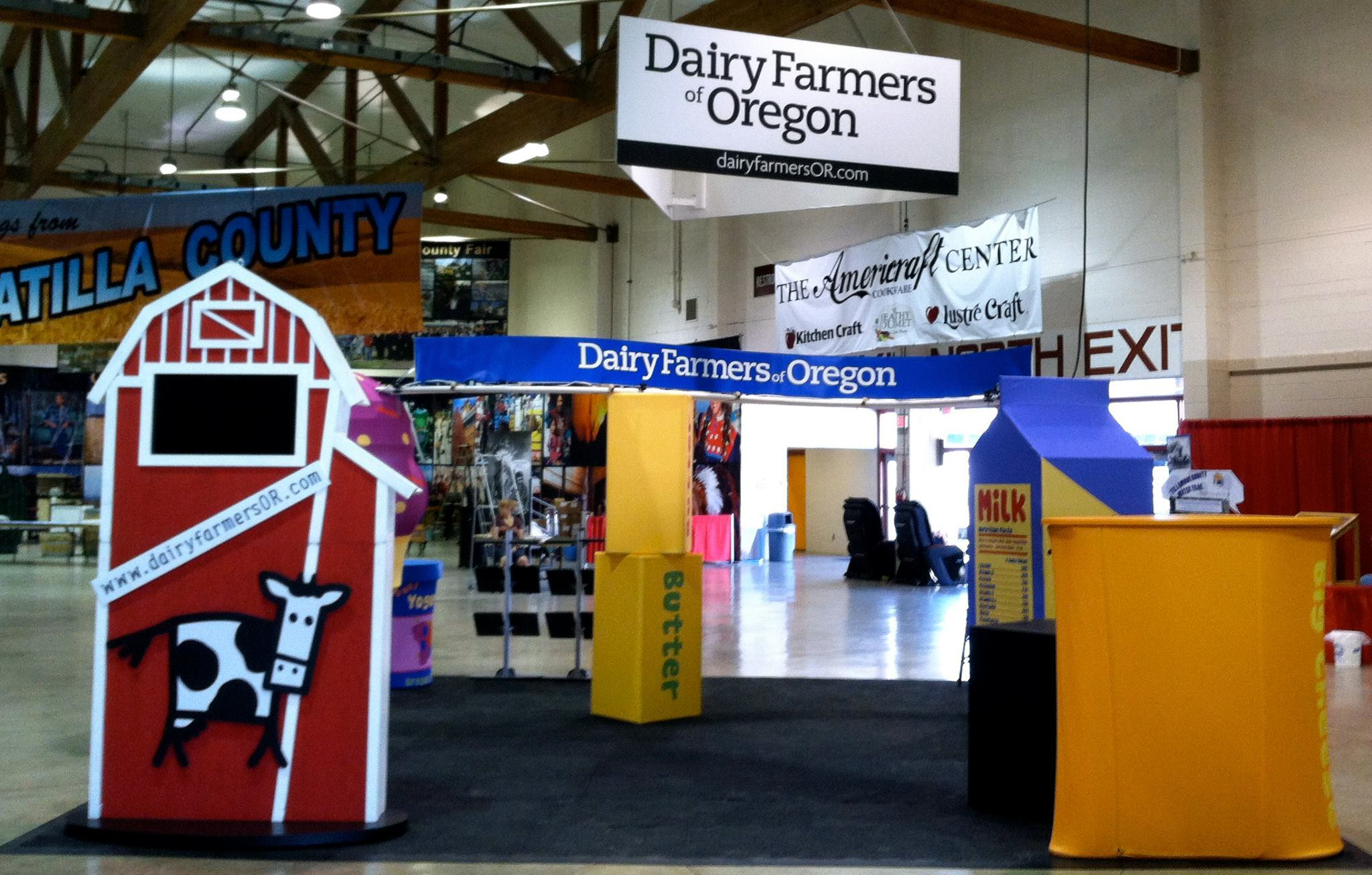 Tradeshow Booth Design for Oregon Dairy Farmers Association