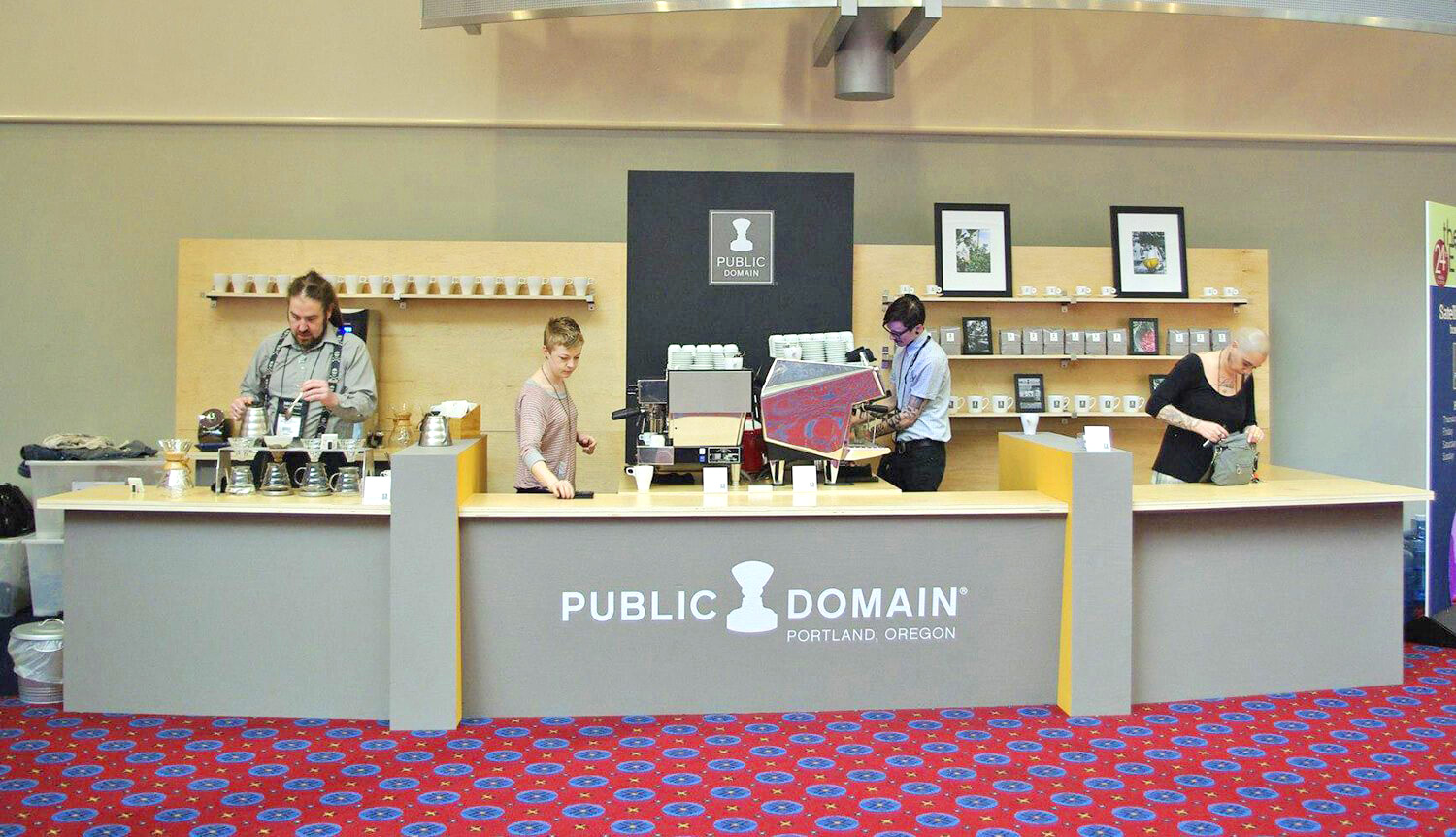 Tradeshow Booth Design for Public Domain Coffee