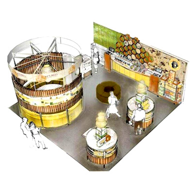 Custom Tradeshow Booth Design for Burt's Bees