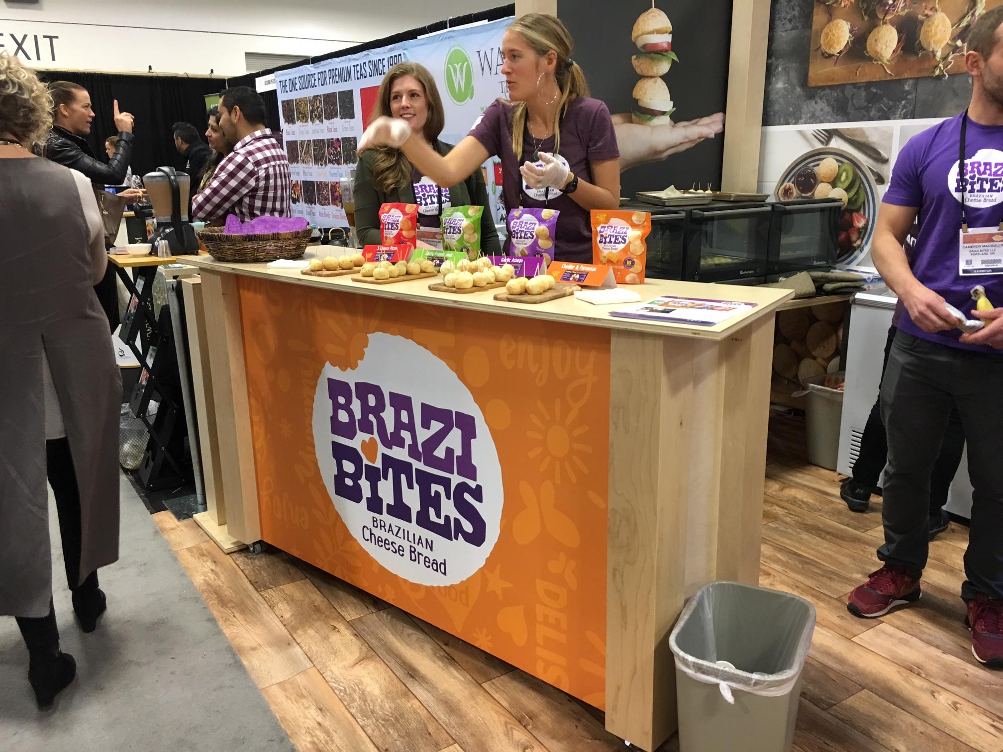 Tradeshow Booth Design for Brazi Bites Brazilian Cheese Bread 2019