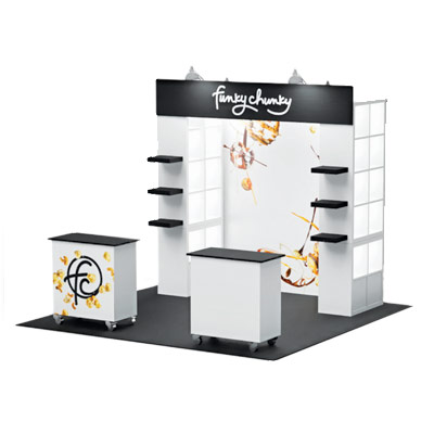 Tradeshow Booth Design for Funky Chunky, Version 3