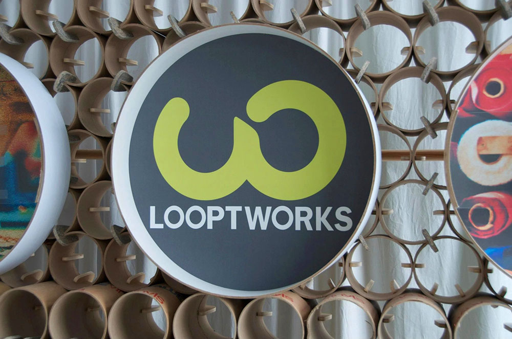 Recyclable Tradeshow Booth Design for Looptworks