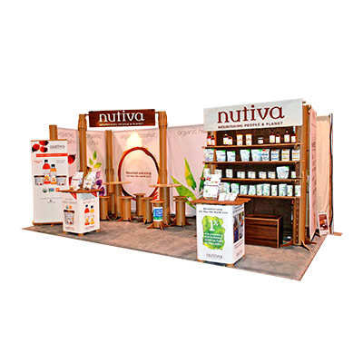 Tradeshow Booth Design for Nutiva 2017