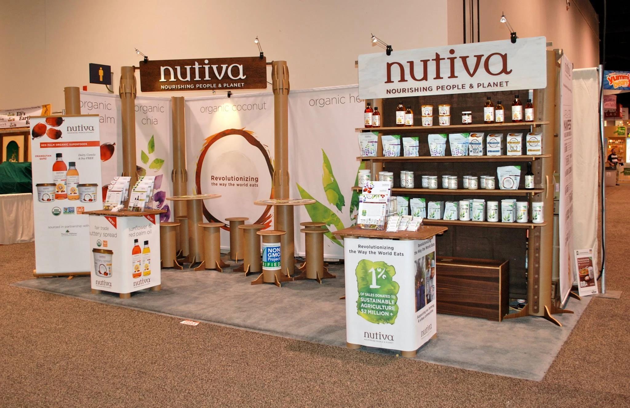 Tradeshow Booth Design for Nutiva 2017