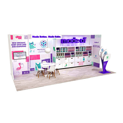 Tradeshow Booth Design for Made Of Baby Products 2018