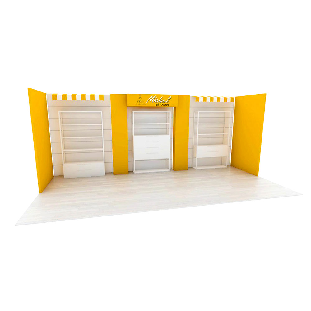 tradeshow booth design for michel de france render thumb