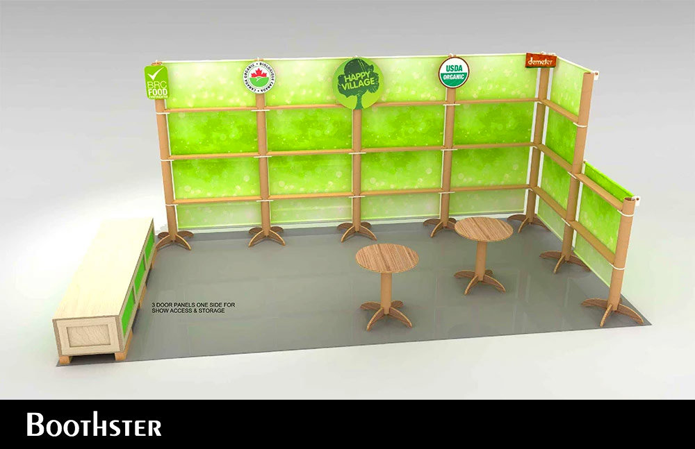 Tradeshow Booth Design for Isik Organics