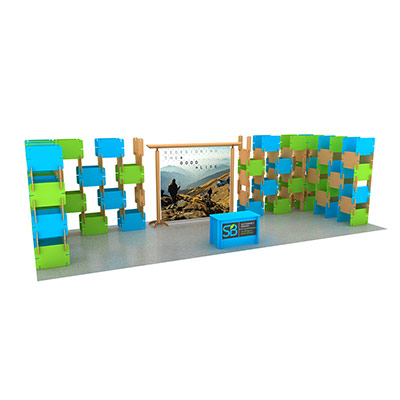 custom tradeshow stage design for susainable brands show