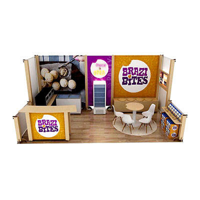 Tradeshow Booth Design for Brazi Bites Brazilian Cheese Bread 2019