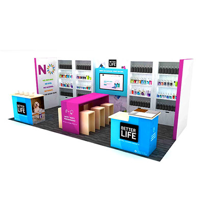 Tradeshow Booth Design for Better Life Cleaning Products