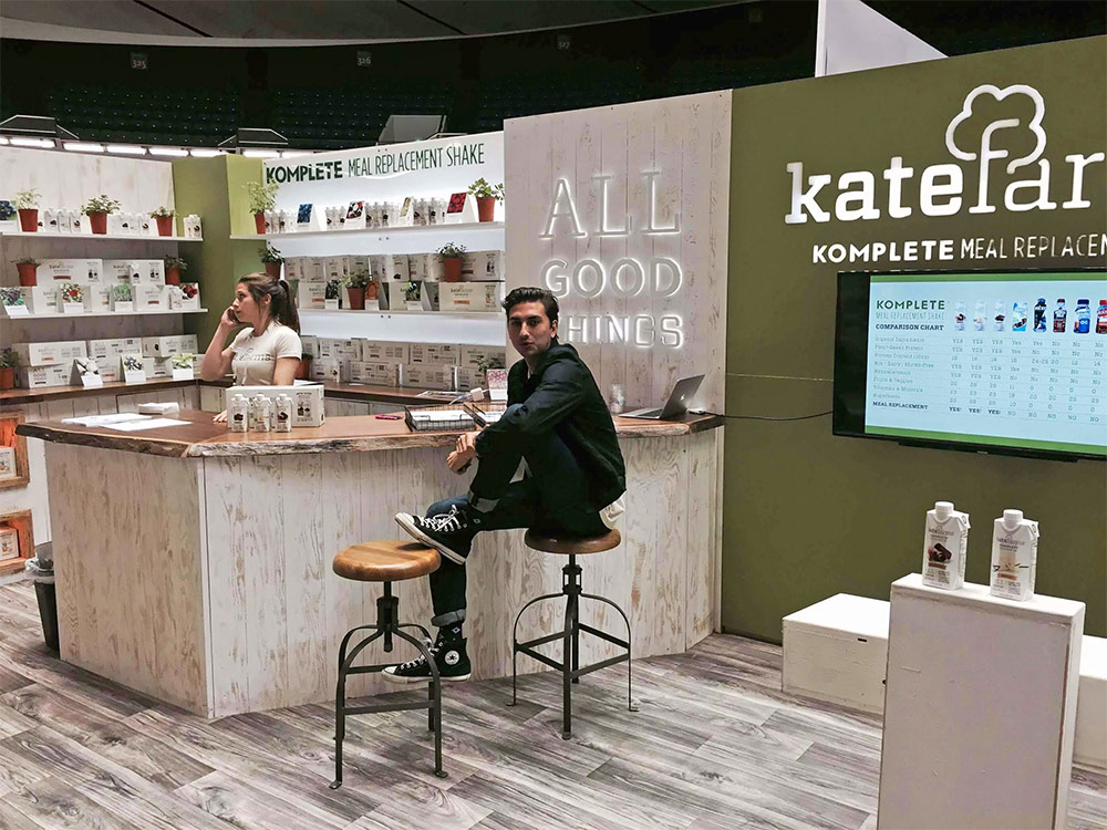 Tradeshow Booth Design for Kate Farms