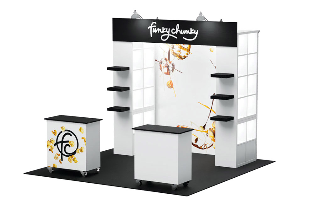 Tradeshow Booth Design for Funky Chunky 2019