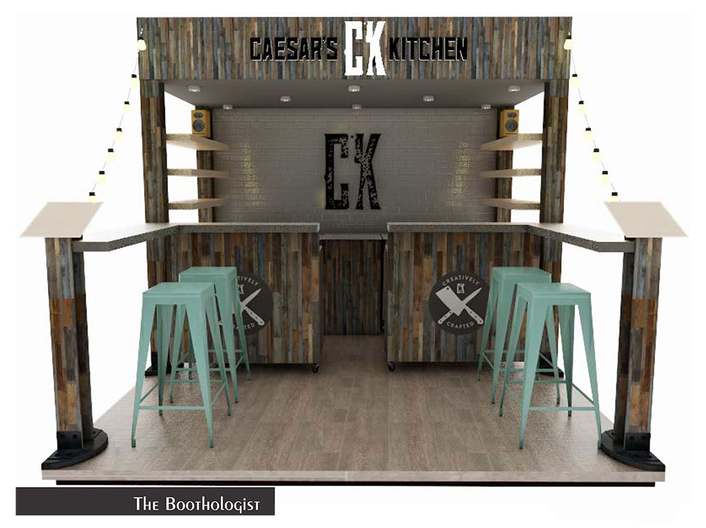 Tradeshow Booth Design for Caesar's Kitchen Frozen Dinners 2019